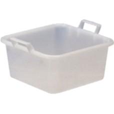 bacinelle in plastica quadre colore bianco per alimenti