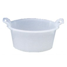 bacinelle tonde in plastica colore bianco per alimenti con maniglie