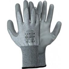 """guanti da lavoro cofra """"carver"""" CE colore bianco/grigio (4544) antitaglio"""