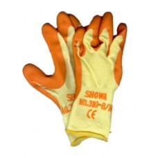 """guanti da lavoro """"showa grip"""" art.310 CE colore giallo/arancio (2142)"""
