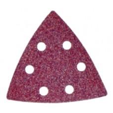 carta abrasiva a delta preforata con velcro